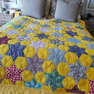 Old world hand quilted quilt